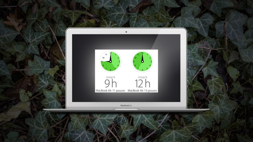 illustration : autonomie du Macbook Air de chez Apple