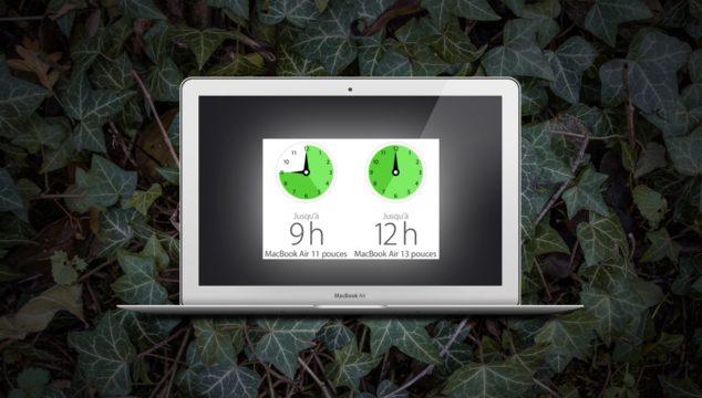 illustration : autonomie du Macbook Air de chez Apple
