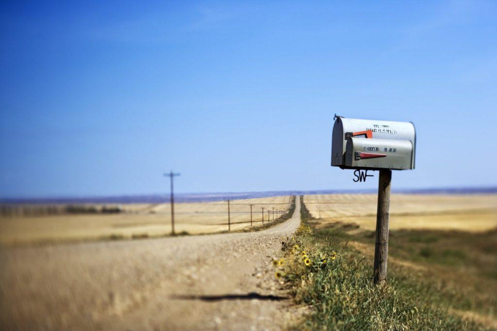 boite mail dans le désert